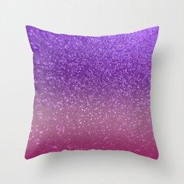 Gradient Glitter Purple Pink Sparkle Throw Pillow