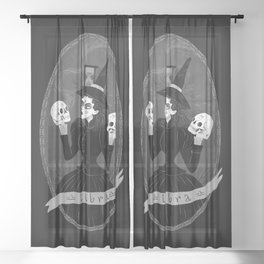 Libra Witchy Zodiac Sheer Curtain