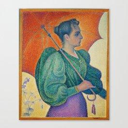 Paul Signac, 1893,Femme,a,lombrelle Canvas Print
