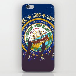 New Hampshire State Flag with Audience iPhone Skin
