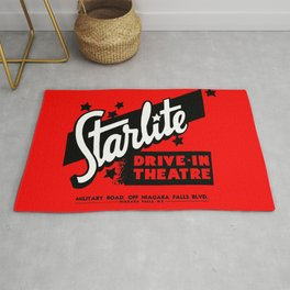 Starlite Drive In Red Rug