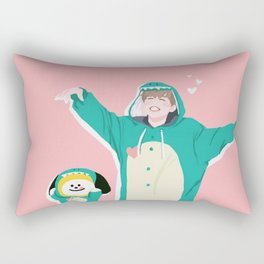 Dinosaur Chimmy (Pink Ver.) Rectangular Pillow