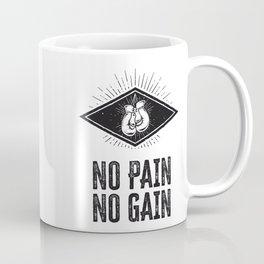 No pain No gain / vintage style motivational training quote Coffee Mug