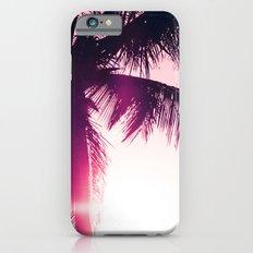 pink palm tree silhouettes kihei tropical nights Slim Case iPhone 6s