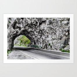 Road in Montenegro Art Print