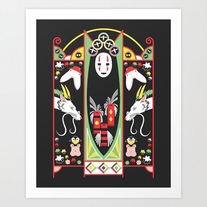 Spirited Deco Kunstdrucke