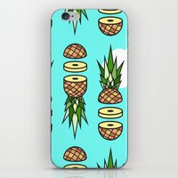 pinapple iPhone & iPod Skins featuring Eat pineapples by Jan Luzar