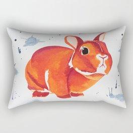 A Curious Looking Bunny! Rectangular Pillow