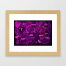 Watercolor Tardigrade Illustration Framed Art Print