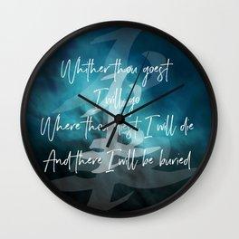 The Oath Wall Clock