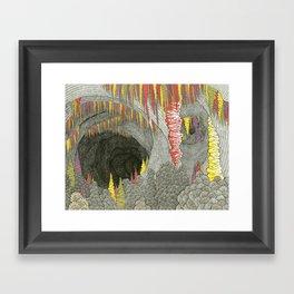 Color Cave Framed Art Print