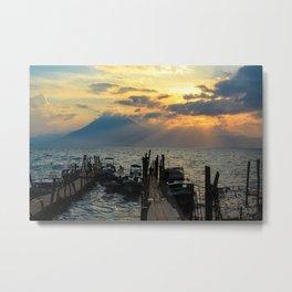 Guatemalan Sunset Metal Print