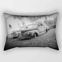 Black and White Classic Ford Cars Rectangular Pillow