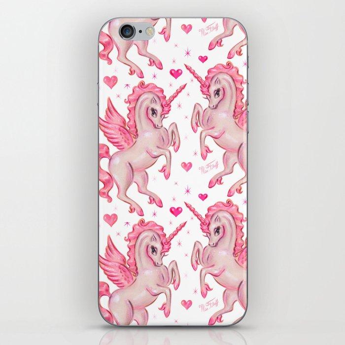 Pink Unicorn Pegasus iPhone Skin
