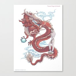 Treasure Dragon Canvas Print