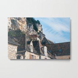 Homes of La Roque-Gageac Metal Print