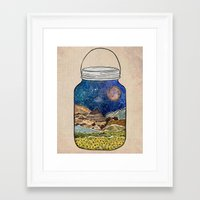 star Framed Art Prints featuring Star Jar by Jenndalyn