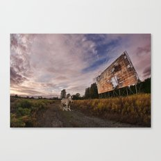 At the drive in. Canvas Print