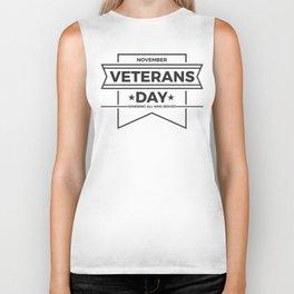 Veterans Day Commemorative Design Biker Tank