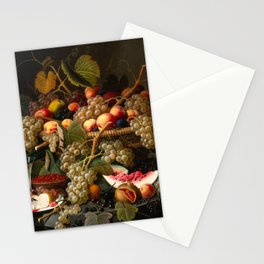 Severin Roesen - Still Life with Fruit, 1852 Stationery Cards