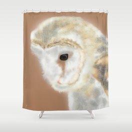 Pensive Barn Owl Shower Curtain