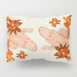 Alligator and Camellias Pillow Sham