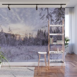 Winter in the forest Wall Mural
