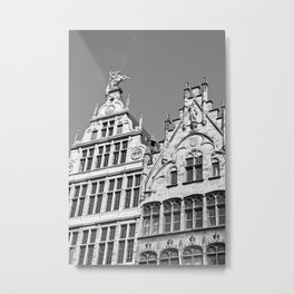 Antwerp in Black & White Metal Print