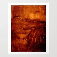 brown wall Art Print