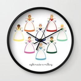 Eight Maids-a-milking Wall Clock