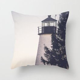 Lighthouse on the Chesapeake Throw Pillow