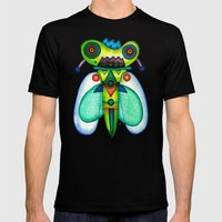 Dragonfly Moth MEDIUM Mens Fitted Tee Black