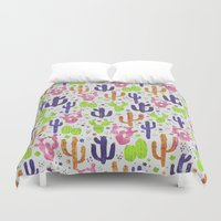 succulents Duvet Covers featuring Succulents by 83 Oranges™