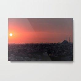 Sunset in Istanbul Metal Print
