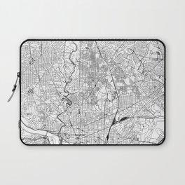 Washington D.C. White Map Laptop Sleeve