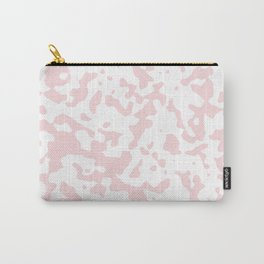 Spots - White and Light Pink Carry-All Pouch
