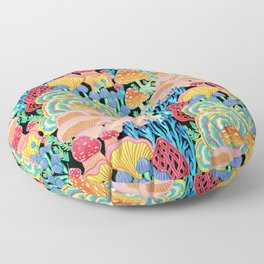 Fungi World (Mushroom world) - BKBG Floor Pillow