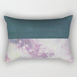 Bit of Brushstroke - Teal & Pink Rectangular Pillow