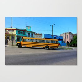 Havana, Cuba School Bus Canvas Print