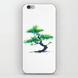 Blue Bonsai iPhone Skin