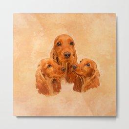 English Cocker Spaniel Dog Digital Art Metal Print
