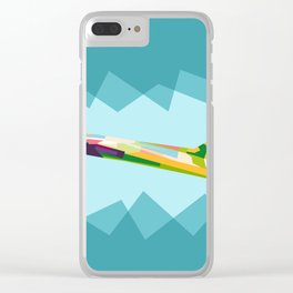 Colorful Jets Clear iPhone Case