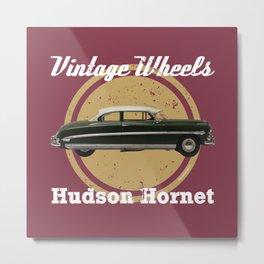 Vintage Wheels: Hudson Hornet Metal Print