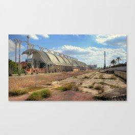 spaceport ruins Canvas Print