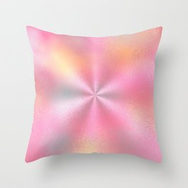 Pink Starburst Pattern Throw Pillow