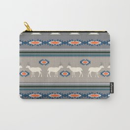 Decorative Christmas pattern with deer Carry-All Pouch