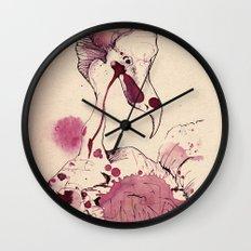 Hoploid Heron Wall Clock