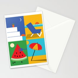 Mediterranean Summer Stationery Cards