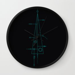 trigonal on black. Wall Clock