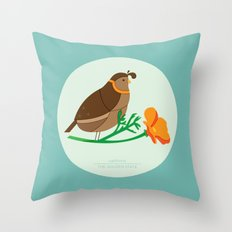 California Quail Throw Pillow